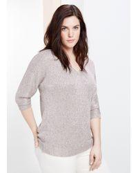 Violeta by Mango Sequin Sweater - Lyst