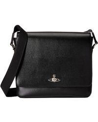 Vivienne Westwood Saffiano Messenger Bag black - Lyst