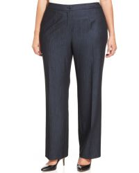 Jones New York Collection Plus Size Sloane Straightleg Trousers - Lyst