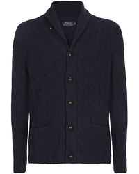 Polo Ralph Lauren Cable Knit Cardigan - Lyst