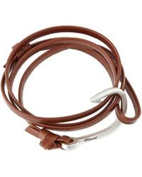 Miansai Hook Leather Bracelet - Lyst