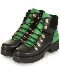 Topshop Ahoy Lace-up Hiker Boots - Lyst