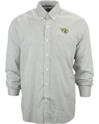 Cutter & Buck Men'S Jacksonville Jaguars Tattersall Dress Shirt - Lyst
