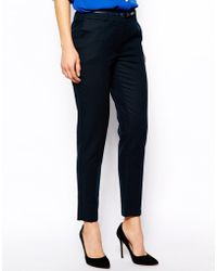 Oasis Cotton Trouser - Lyst