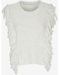 Exclusive For Intermix Sleeveless Fringe Sweater - Lyst