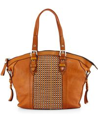 orYANY Betsy Chainmail Tote Bag brown - Lyst