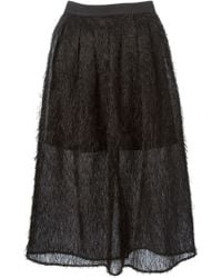 Natargeorgiou - Organza Net Feather Skirt - Lyst