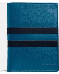 COACH | Modern Varsity Stripe Passport Case In Sport Calf Leather | Lyst