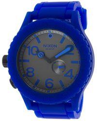 Nixon Men'S Rubber 51-30 Royal Blue Rubber Gunmetal Dial - Lyst