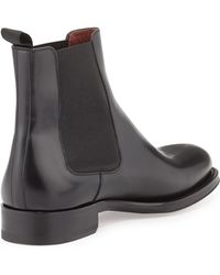 Neiman Marcus - Polished Leather Chelsea Boot - Lyst