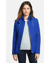 French Connection Stand Collar Quilted Jacket - Lyst