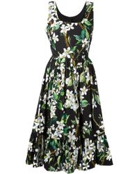 Dolce & Gabbana Floral Print Dress floral - Lyst