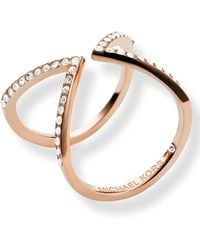 Michael Kors Pave Open Arrow Ring - Lyst