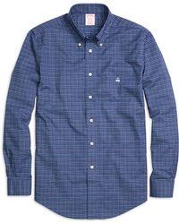 Brooks Brothers Non-Iron Madison Fit Tattersall Sport Shirt - Lyst