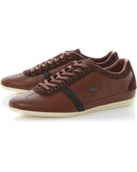 Lacoste Misano 31 Premium Leather Lace Up Trainers - Lyst