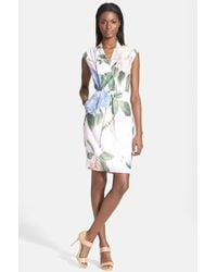 Ted Baker 'Carleen' Floral Print Sheath Dress - Lyst
