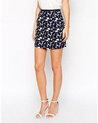 Oasis Brush Stroke Floral Mini Skirt - Lyst