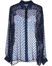 Gucci Blue Shirt - Lyst