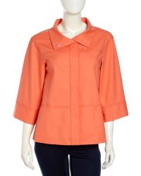 Lafayette 148 New York Emiline 34 Boxy Stretchknit Jacket Sunset - Lyst