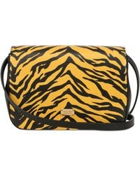 Moschino Cheap & Chic Tiger On Leather Shoulder Bag - Lyst