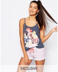 Missimo - Disney 99% Princess Short Pyjama Set - Lyst