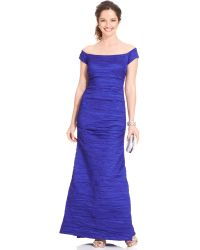 Alex Evenings Off-The-Shoulder Taffeta Evening Gown - Lyst