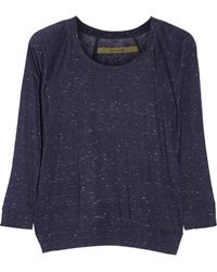 Enza Costa Marled Stretchjersey Top - Lyst