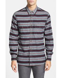 French Connection Slim Fit Flannel Work Shirt - Lyst