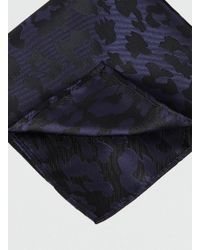 LAC - Ink Camo Silhouette Pocket Square - Lyst