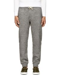 Rag & Bone Charcoal Marled Knit Fleecy Lounge Pants - Lyst