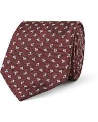 Paul Smith Embroidered Silk-Faille Tie - Lyst