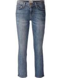 Current/Elliott Faded Cropped Jeans - Lyst