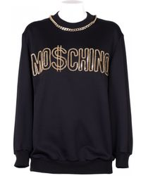 Moschino Oversize Sweater Black With Metal Inserts black - Lyst