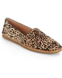 Vince Camuto Signature Calfhair Slip-On Flats - Lyst