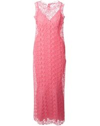 Ermanno Scervino Crocheted Maxi Dress - Lyst