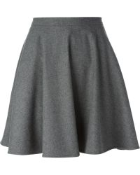RED Valentino Pleated Skirt - Lyst