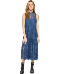 Free People - Angel Rays Trapeze Midi Dress - Lyst