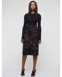 Jigsaw - Taffeta Rose Skirt - Lyst