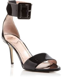 Moschino Cheap & Chic Open Toe Ankle Strap Sandals - Buckle High Heel - Lyst