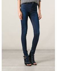 Costume National High Waisted Skinny Jeans - Lyst