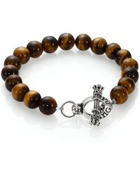 King Baby Studio Tigers Eye Beaded Bracelet - Lyst