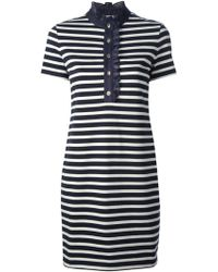 Tory Burch Striped Tshirt Dress - Lyst