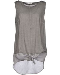 Dondup Gray Top - Lyst