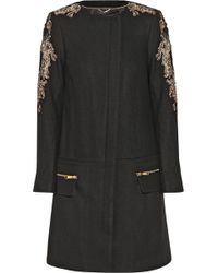 Day Birger Et Mikkelsen Night Vibrant Embellished Wool-blend Coat - Lyst