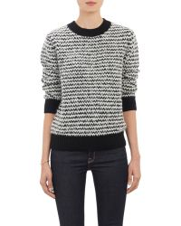Barneys New York Stripe Bouclé Sweater multicolor - Lyst