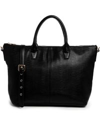 Asos Zip Top Handheld Bag - Lyst