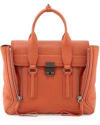 3.1 Phillip Lim Pashli Medium Zip Satchel Bag Persimmon - Lyst