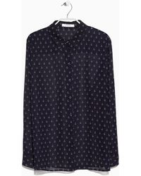Mango Anchor Print Shirt - Lyst