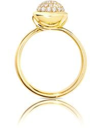 Tamara Comolli - Bouton 18k Yellow Gold Pavé Diamond Ring - Lyst