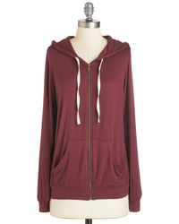 The Hanger - Layers Well With Others Hoodie In Burgundy - Lyst